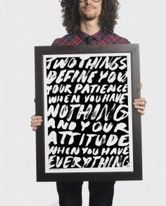 Quotes Typo  Anonymous Brush Print
