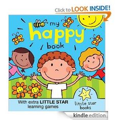 """05. August 2012 - """"I'm happy when the bees buzz, and when the moo cows moo. And when all my friends are happy, I am happy, too!""""  A lovely positive rhyming picture book with a difference. Extra finding games and talking games at the back are added to help your child enjoy the reading experience and take learning steps, too. An exciting debut title from Little Star Books, the brand new name on the ebook block."""