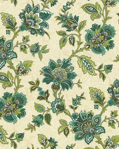 Palm Court - Gypsy Floral - Beige from the 'Palm Court' collection by Michele D'Amore Designs, LLC for Benartex.