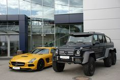 Photo gallery with 11 high resolution photos. Check out the Mercedes-Benz SLS AMG Black Series and G63 AMG 6x6 images at GTspirit.