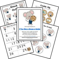"""FREE """"If You Give a Mouse a Cookie"""" Lapbook"""