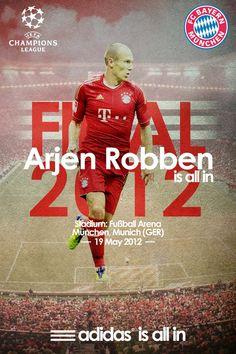 UEFA Champions League -Bayern Munich Vs Chelsea- Final by Kareem Gouda, via Behance