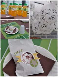 Bolsitas de recuerdos en una fiesta de fútbol soccer :: Favor bags for a soccer party