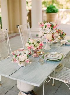 Romantic Blush Tablescape