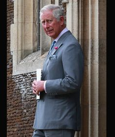 Prince Charles, Prince of Wales at the Church of St Mary Magdalene on the Sandringham Estate