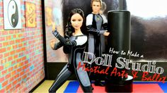 Video tutorial - How to Make a 18 inch Doll Martial Arts and Ballet Studio | Plus Zylie the Bear ...