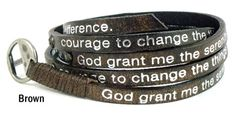NEW shipment just arrived! Good Works Vintage Serenity Prayer Wrap Bracelet with Nailheads $32 - HURRY, these popular bracelets sell out quick!