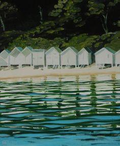 "Saatchi Art Artist Antoine Renault; Painting, ""Mouillage à l'Anse Rouge - Private collection, France"" #art"