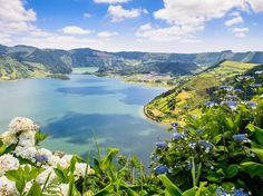 You'll find a little bit of everything in the nine Azore Islands located off the coast of Portugal. Bright blue-and-green lakes, good wine, prairies, volcanic cones and craters, and stunning flowers are all a part of these islands.