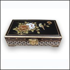Chinese Black Lacquered Jewellery Box