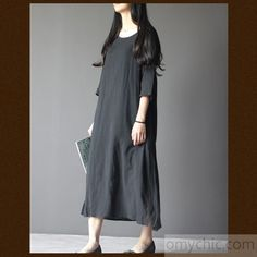 Black linen maternity dress plus size linen summer maxi dresses summer linen clothing