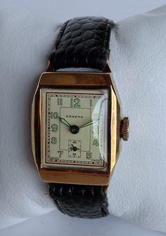 Fantastic 1920s or 1930s Ornema Swiss Art Deco manual wind mens vintage watch in great working order. £185.00, via Etsy.