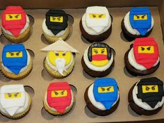 Ninjago Cupcakes..because it's birthday season again.