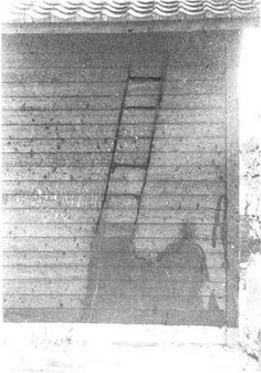 Hiroshima Shadow of a disintegrated person - victim of atomic bomb