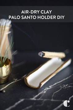 Learn how to make a simple palo santo holder out of air-dry clay, so you can burn holy wood and keep the bad energies at bay.