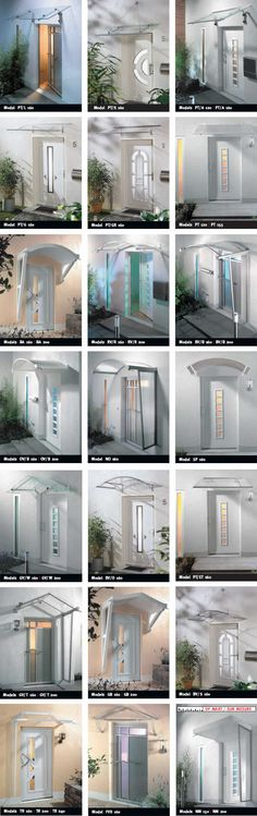 Easy to install DIY door porch canopies - a door canopy for every situation