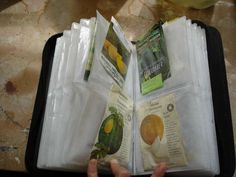 using a cd case to categorize your seeds: the link is on cheap gardening tips
