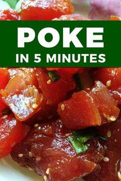 Tuna Steak Recipes, Sushi Recipes, Cooking Recipes, Healthy Recipes, Ahi Tuna Recipe, Easy Recipes, Sashimi Grade Tuna Recipe, Healthy Eating, Hawaiian Recipes