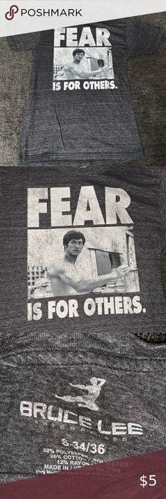 Bruce Lee Martial Arts Icon Flying Side Snap Kick Big Boys 2-Sided Print T-Shirt
