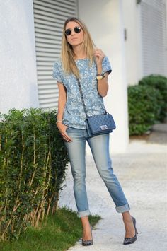 Glam4You por Nati Vozza | Meu look: Denim on Denim