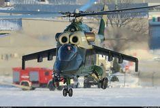 "Mil ""Mi-24K""/""Mi-PSV"" (""Hind-G Mod.2""), b/n""271""white, KB Mil (MVZ) experimental helicopter.   Люберцы (HE2S) Московская область. Февраль/February 2017."