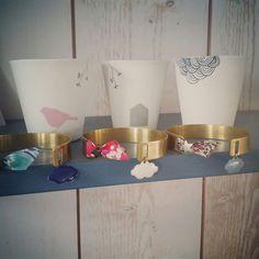 Manchettes par Little Nuage ♡ Planter Pots, Arm Warmers, Clouds, Jewerly