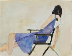 Richard Diebenkorn - Untitled, c. 1968, watercolor and graphite on paper