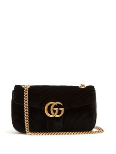 Click here to buy Gucci GG Marmont quilted-velvet cross-body bag at MATCHESFASHION.COM