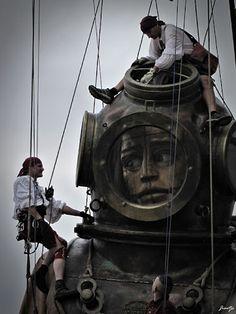 Le géant Marionette Puppet, Puppets, Puppetry Theatre, Nantes France, Art Brut, Owl City, Le Havre, Beach Kids, Art For Art Sake