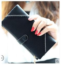 Fashion Retro Matte Stitching Wallet