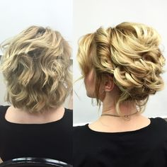 I can't thank Salon Accessories and all of the stylists in upstate NY enough for selling out my last event on my spring 2016 tour Here I demonstrated in minutes how to use loops and curls to put SHORT HAIR UP! Bun Hairstyles For Long Hair, Short Hair Updo, Bride Hairstyles, Short Hair Cuts, Curly Hair Styles, Trendy Hairstyles, Short Wedding Hair, Wedding Hair And Makeup, Wedding Updo
