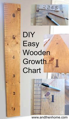I have been wanting to make a growth chart for my three girls since I saw them popping up on my newsfeed. I have been procrastinating for a while thinking that this project was going to be a big one, but I was pleasantly surprised by how easy it was! See for yourself at http://www.andthenhome.com/diy-easy-wooden-growth-chart/ #DIY #growthchart #kids #kidsroom #homedecor #easydiy #andthenhome