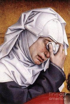detail, The Deposition, van der Weyden
