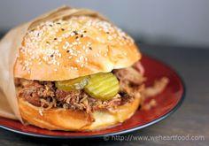<3 North Carolina Pulled Pork Sandwiches
