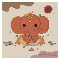 Cute Desktop Wallpaper, Cartoon Wallpaper, Girly Drawings, Easy Drawings, Happy Dussehra Wallpapers, Lord Ganesha Paintings, Lord Krishna Wallpapers, Festival Background, Mini Canvas