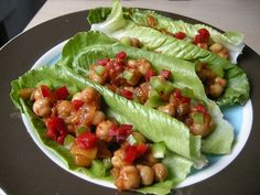 Happy Herbivore's Salsa Chickpea Lettuce Wraps.  These are best served cold with some diced avocado on the top.  Yum!!!