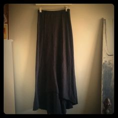 "Free People high-low maxi skirt Brand new, no tags, never worn. Front is 34"" long; back is 44"" long. Black. Free People Skirts High Low"
