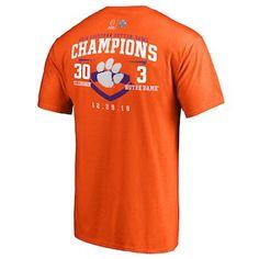 497b26ddfe0c Fanatics Branded Clemson Tigers Orange College Football Playoff 2018 Cotton  Bowl Champions Fair Catch Score T-Shirt