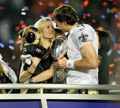 Drew Brees with family #SAINTS #drewbrees #SOCUTE