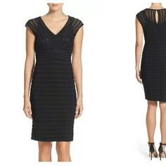 Adrianna Papell Black Sheath Dress NWT. Nordstrom exclusive. LISTED BELOW RETAIL! Adrianna Papell Dresses Mini