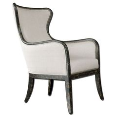 Sandy Sandy White Wing Chair Uttermost Arm Chairs Accent Chairs Accent Furniture