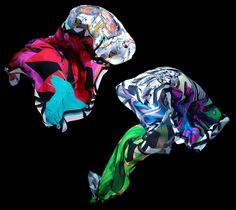 Beautiful silk scarves.