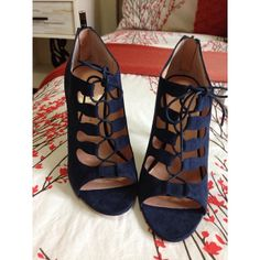 7a73c81aaf4  MySoleSociety  a go-to navy lace-up heel Lace Heels