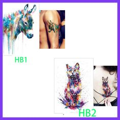 new Yellow Fox and Feather Cool Beauty Tattoo Waterproof Hot Temporary Tattoo Stickers Schulterpanzer Tattoo, Get A Tattoo, Weird Tattoos, Cool Tattoos, Awesome Tattoos, Tattoo Prices, Brown Girl, Cat Pattern, Tatoo