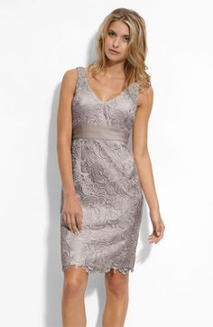"""hmm this is a serious contender I think..  I think the girls might like this a lot. it's not even a """"bridesmaids"""" dress, which I REALLY LIKE. not shiny...  and the lace isn't obnoxious/table-cloth-y..  hmm"""