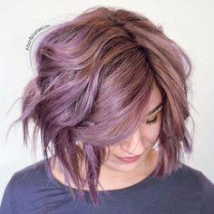 Pastel Purple Choppy Bob