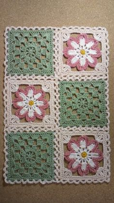 Watch The Video Splendid Crochet a Puff Flower Ideas. Phenomenal Crochet a Puff Flower Ideas. Grannies Crochet, Crochet Quilt, Crochet Home, Thread Crochet, Crochet Motif, Crochet Stitches, Filet Crochet, Knit Crochet, Granny Square Crochet Pattern