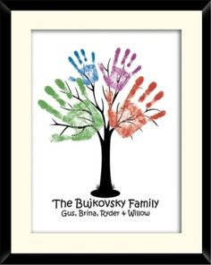 handprint family tree by cheri