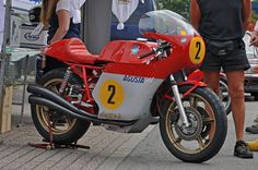 the real deal !the real deal !the real deal ! Mv Agusta, Bike With Sidecar, Motorcycle Manufacturers, Cafe Bike, Ducati Motorcycles, Old Bikes, Classic Bikes, Vintage Bikes, Vintage Racing