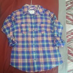 Plaid shirt Plaid shirt, great condition, only worn once Aeropostale Tops Button Down Shirts